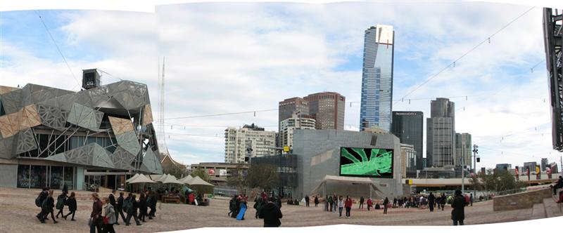 Nanoplastica on the BIG SCREEN at Federation Square 2009