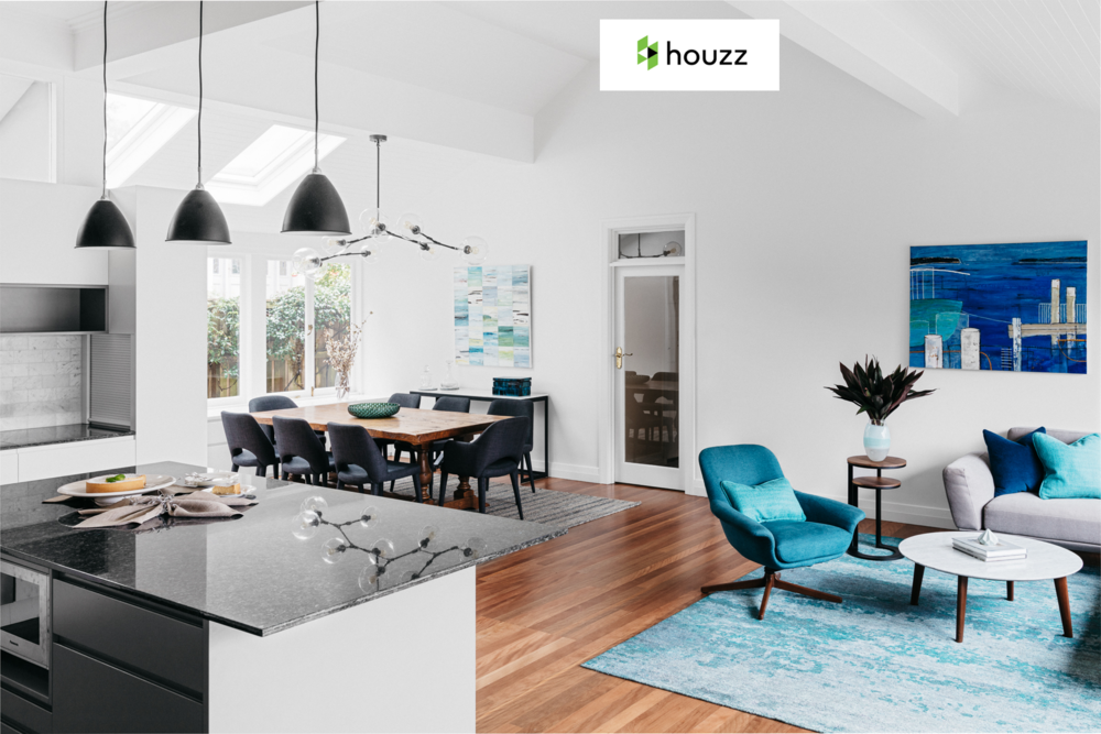 HOUZZ  - August 2017  Expert Eye: 6 Ways to Solve Open-Plan Decorating Dilemmas