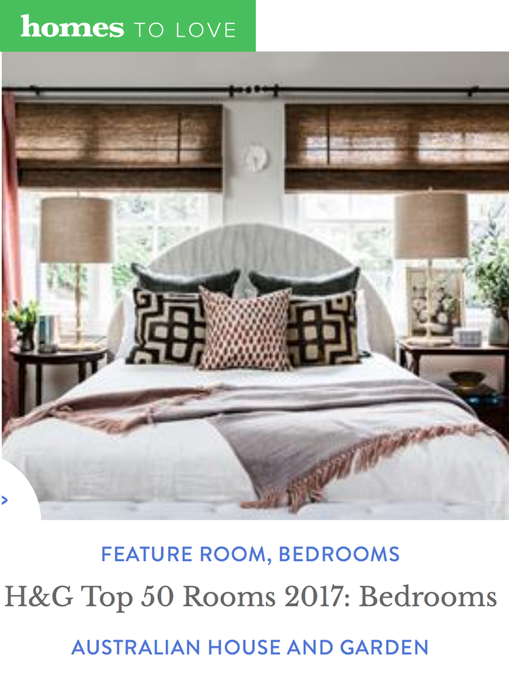 HOMES TO LOVE  - October 2017  H&G Top 50 Rooms 2017: Bedrooms