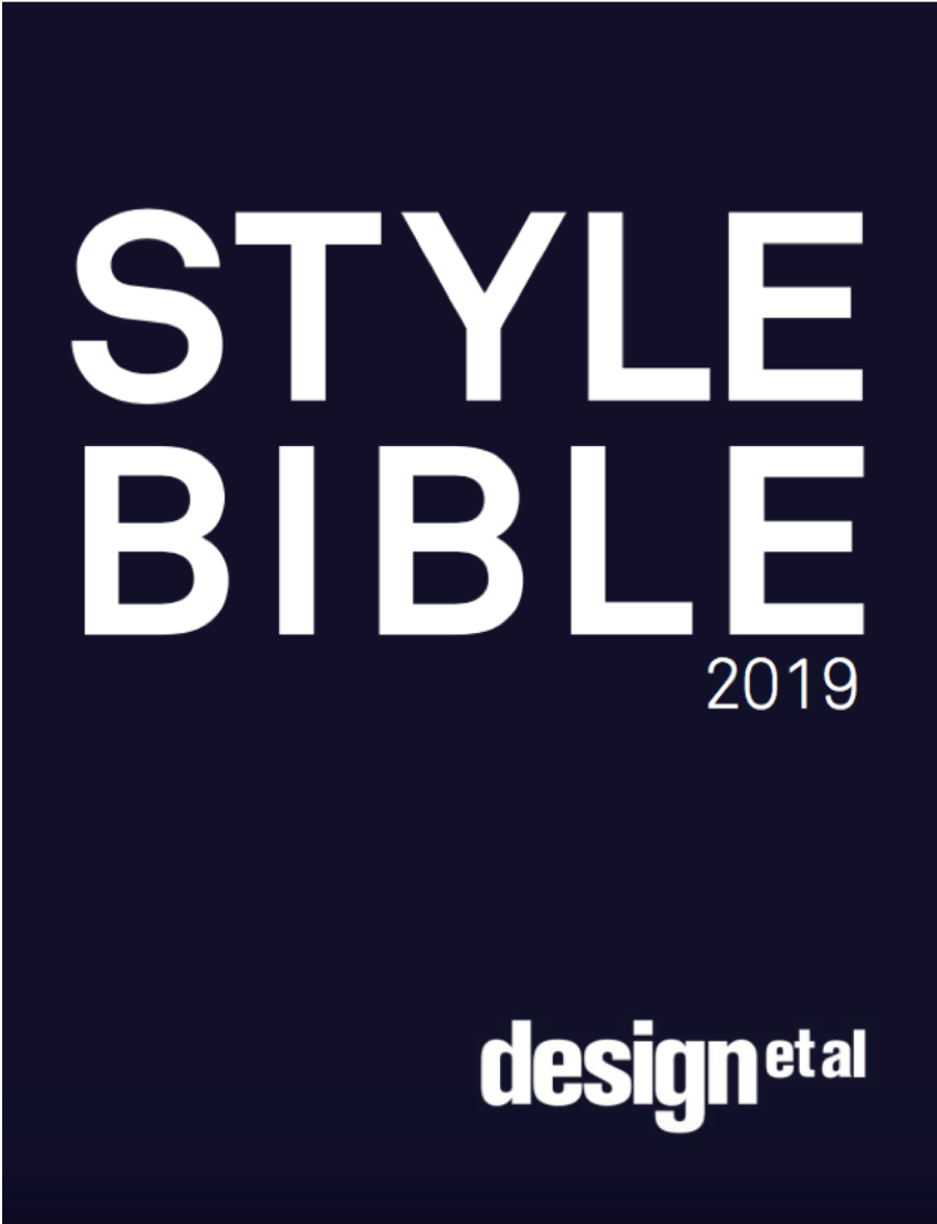 Design et al STYLE BIBLE 2019  - February 2019   Designer feature