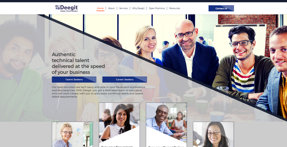 Deegit Inc. - Website - This was a repeat engagement with the client for their website 2.0. This involved collaborating with stakeholders across time zones and from diverse ethnicity. Worked on #contentstrategy, #contentcreation, & #contentdesign.Click here for case study.