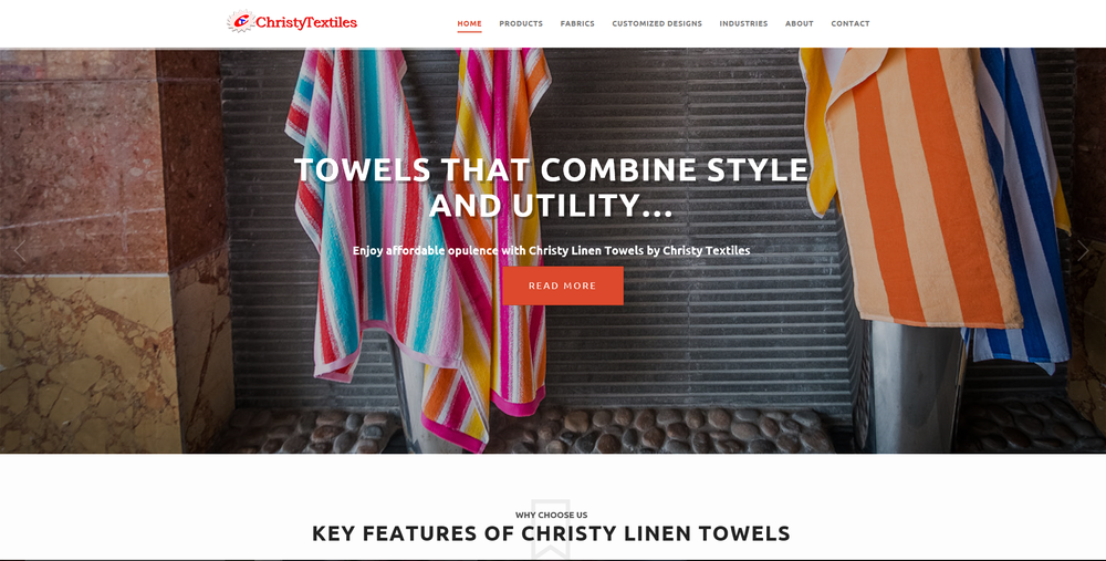 Christy Textiles - Worked on content and the website structure.#ContentWriting #ContentDesign