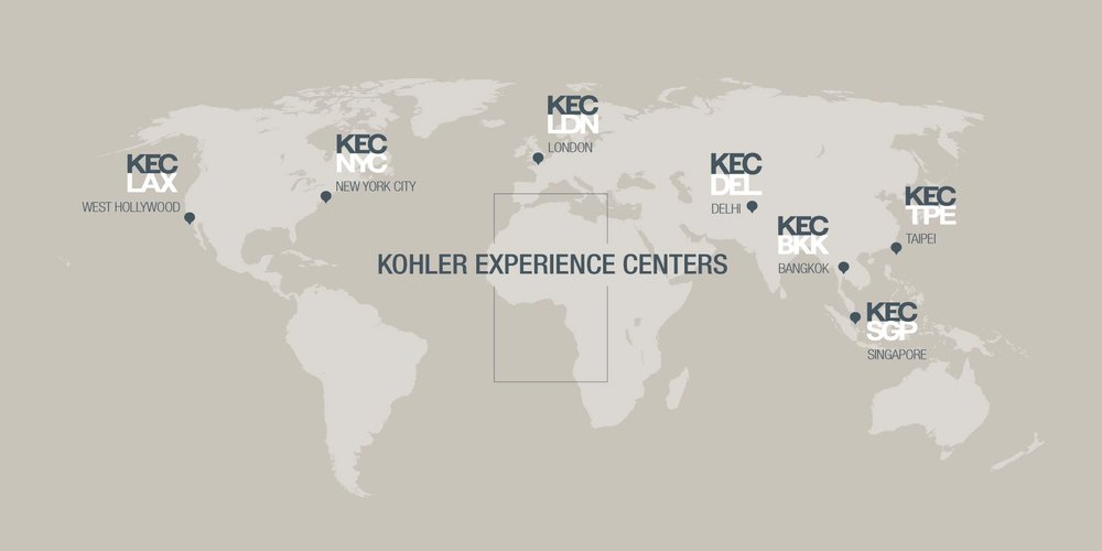 Visit KOHLER Experience Centers worldwide, with locations in the United States, India and Asia all open by the end of August 2017. Check back to learn about more locations opening in 2018.
