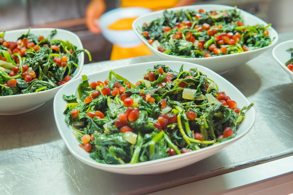 STEAMED CALLALOO & SPINACH
