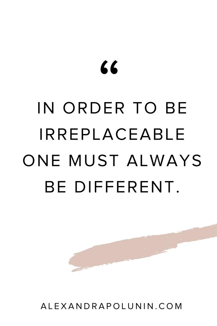 In Order to be irreplaceable.jpg