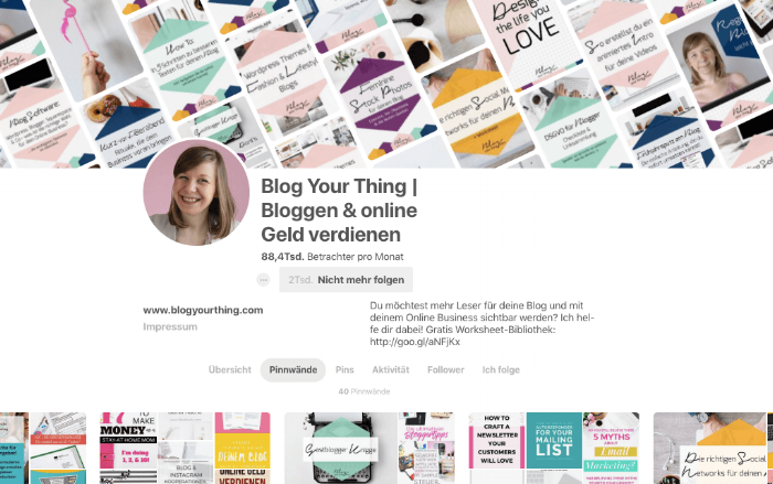 Quelle: Blog Your Thing auf  Pinterest