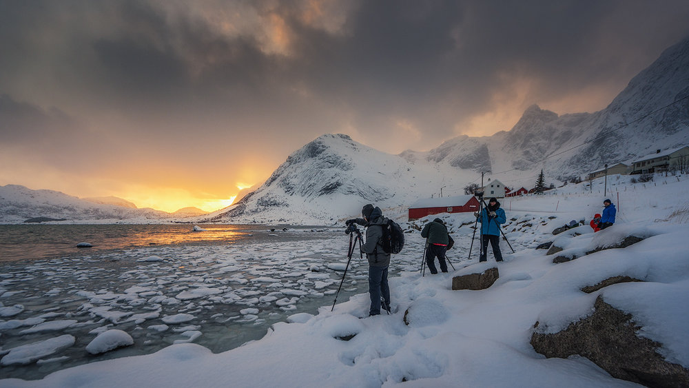 Arctic sunsets in Lofoten