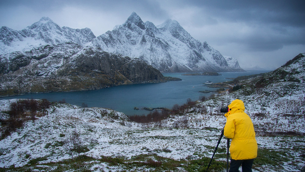 A typical Norwegian fjord, Lofoten