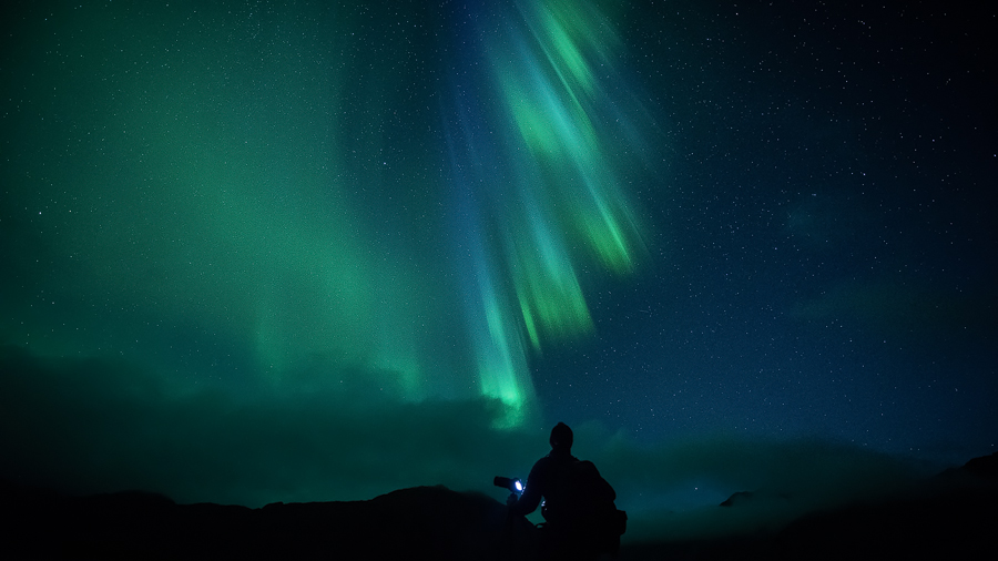 Greetings from the Northern Lights in Lofoten