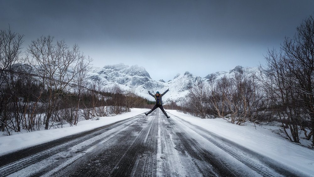 Jumping with joy, Lofoten