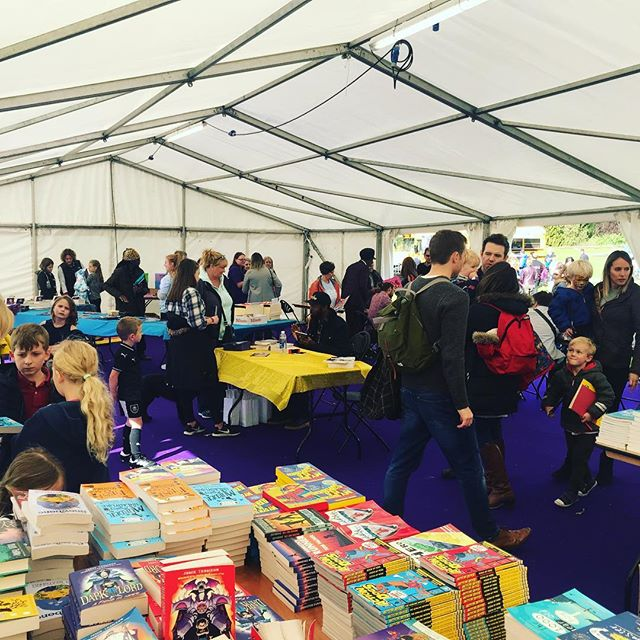 Half way through day 1 at the Broughton Hall Children's Literature Festival and the book signing Tent is the place to be!!! Come and join us on the bottom field! 📚📚📚