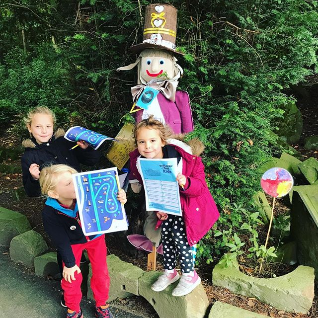 Searching out the scarecrows on the @micralite_ Scarecrow Trail! Head over to the @micralite_ Tent  to pick up your map and start the journey!!