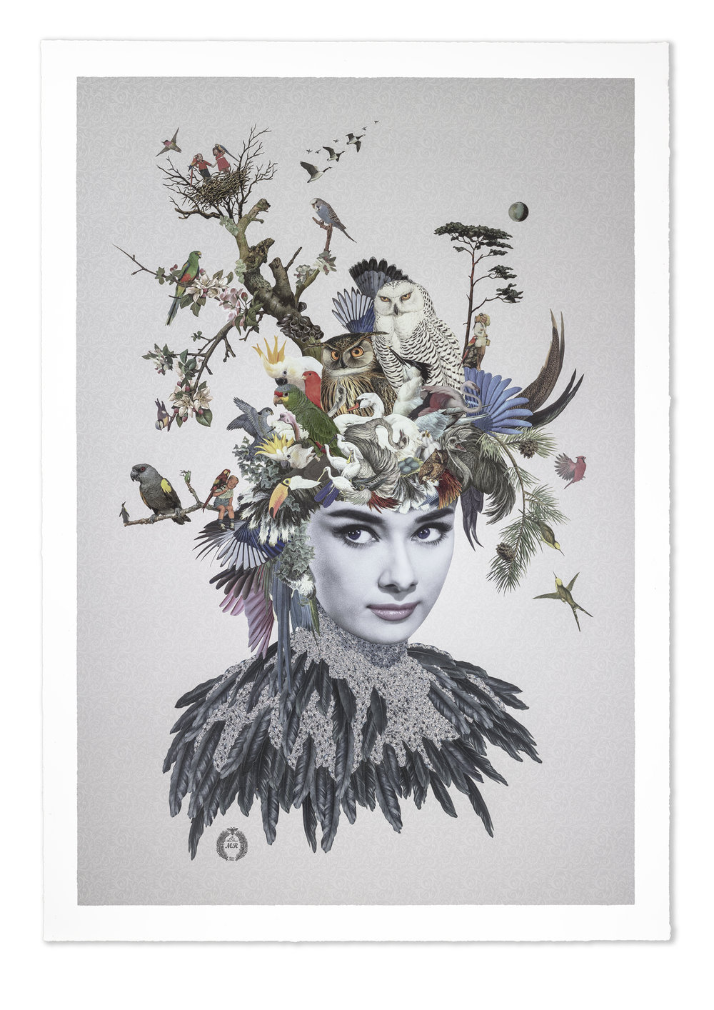 Lydia  was exclusively commissioned by English antiques expert and television presenter Jonty Hearnden.   POA - contact  info@jontyhearnden.co.uk  for more information  70 x 100cm Giclee and Screenprint with Gloss Varnishes and French Glass. Edition of 25 on Minuet torn to the edge