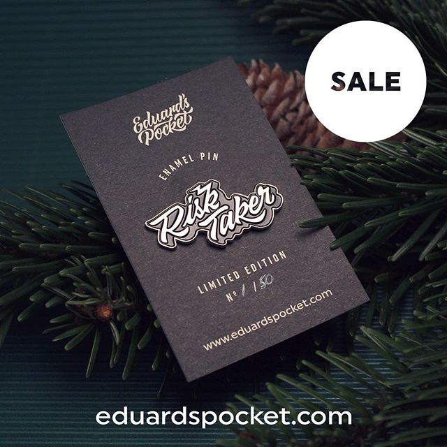 Christmas Sale 🎄 10% OFF ON ALL PINS with free shipping in Berlin & Bucharest🎁 Cop yours now on eduardspocket.com (🔗in bio) . . . . #explore #pin #enamelpin#pinsofig #pingame #pingamestrong #pinlove #packaging #sale #xmas2017 #christmas #christmas2017 #present #accesories #lettering #risktaker #adventure #wild #designer #designinspiration #dailytype #type #onlineshopping