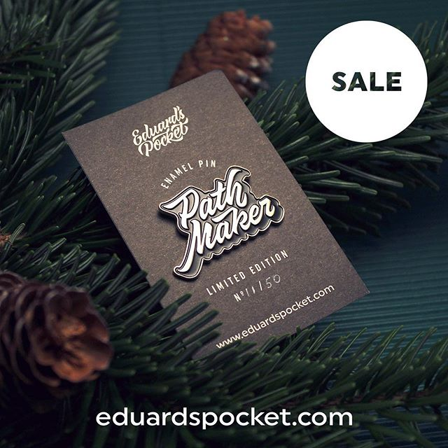🎅🏼 10% OFF ON ALL PINS 🎄 Get your Limited Edition pin on eduardspocket.com (🔗 in bio) . . . . #christmas #christmas2017 #xmas #holidays #christmastree #present #adventure #pathmaker #travel #discovertheworld #motivation #lettering #designer #sale #designinspiration #limitededition #pingame #pin #enamelpin #pinsofig #pinlove #type #typography #calligraphy #goodies