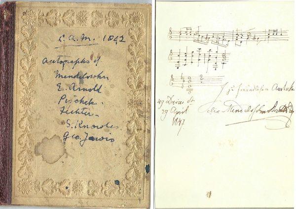 Copy of Mendelssohn's autograph