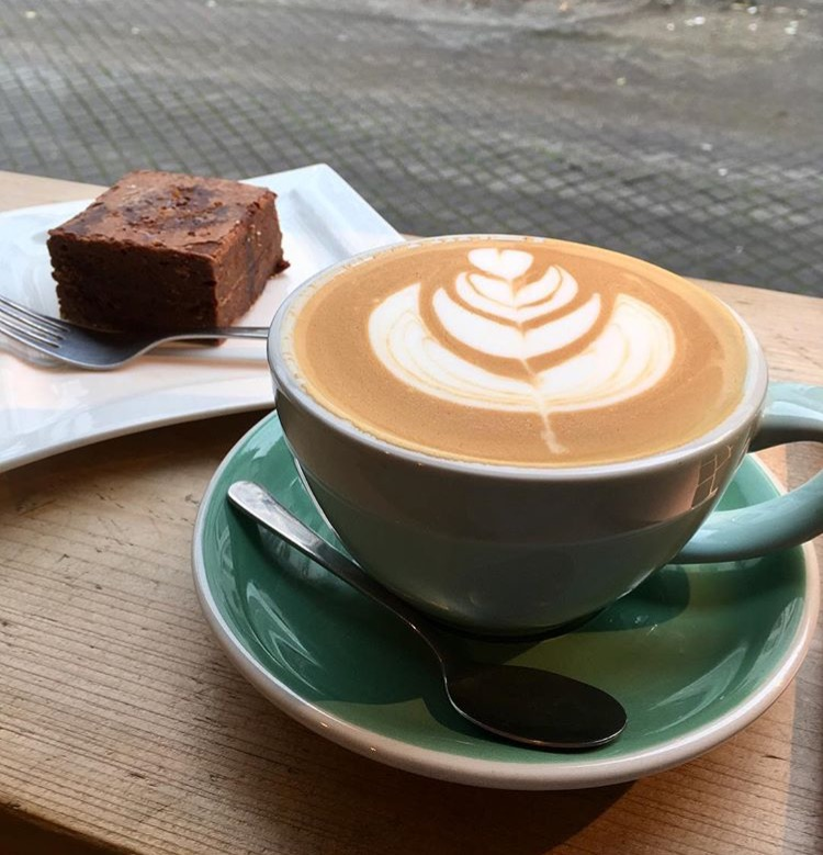 Coffee Lab Latte and Brownie