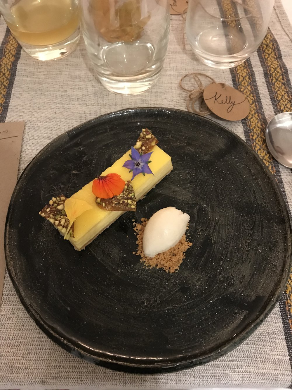Cardamon custard tart