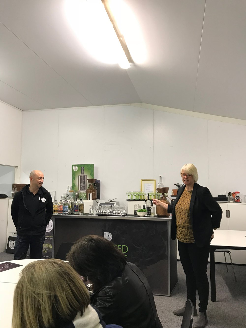 Paul and Belinda explain the story of Winchester Distillery