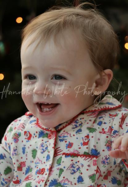 Baby in pyjamas