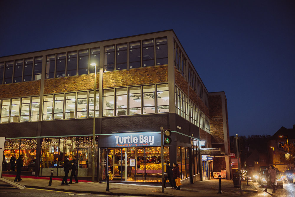 Turtle Bay Winchester shining in the twilight ahead of VIP launch night