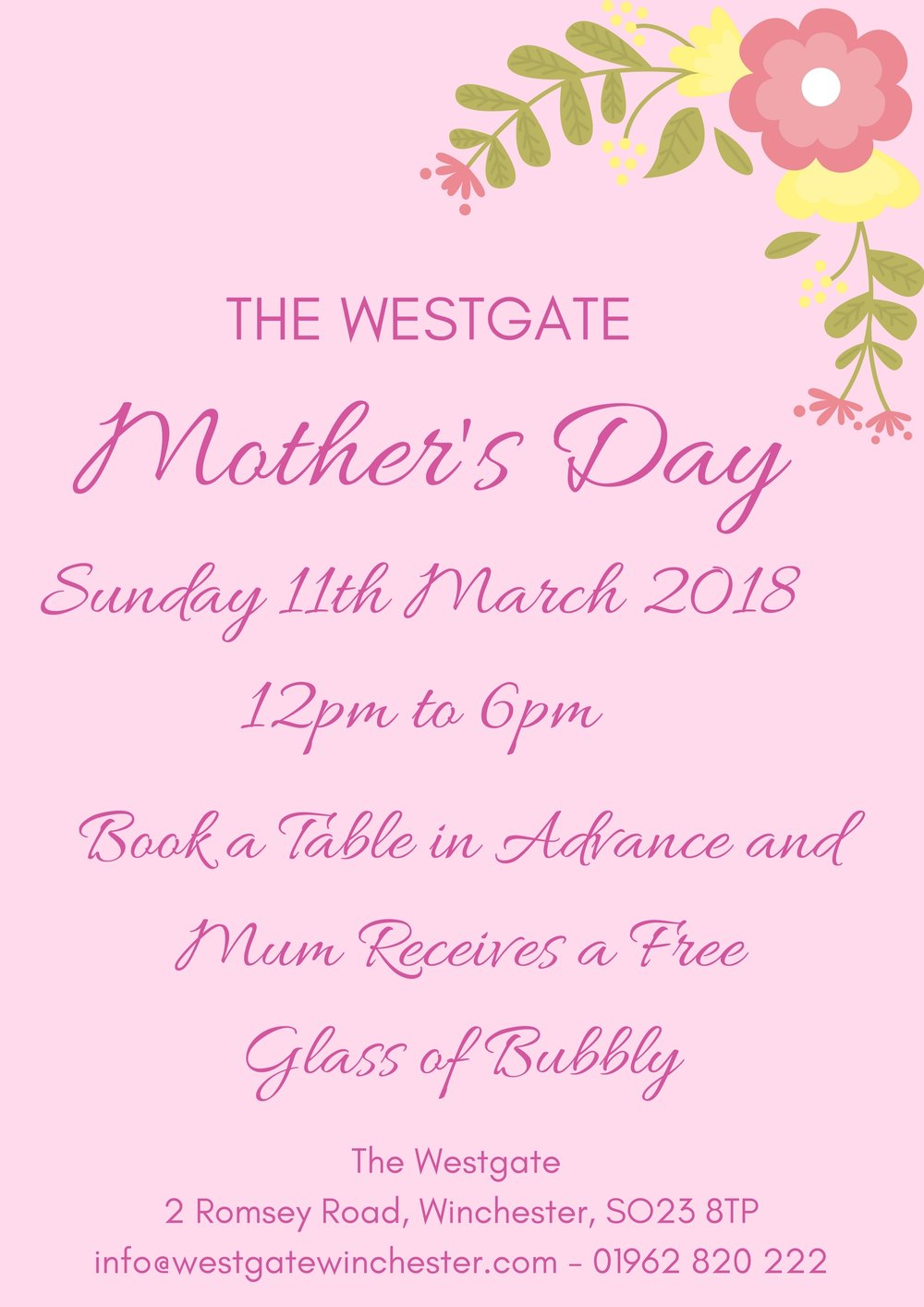 Mothers Day at the Westgate Winchester