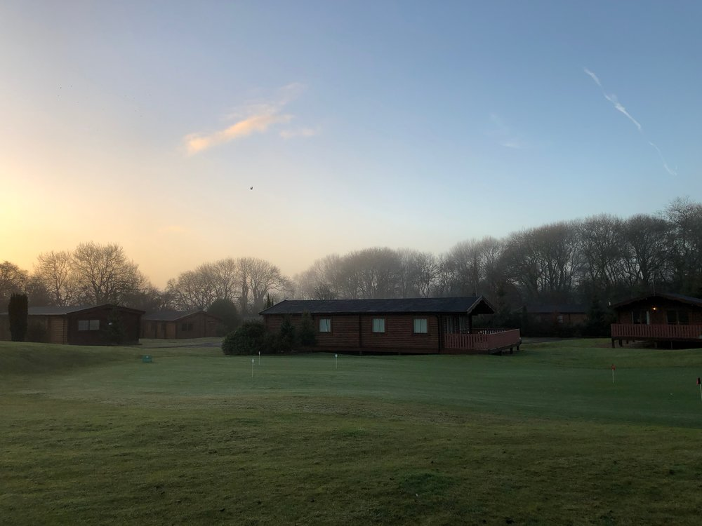 Sunset over South Winchester Lodges