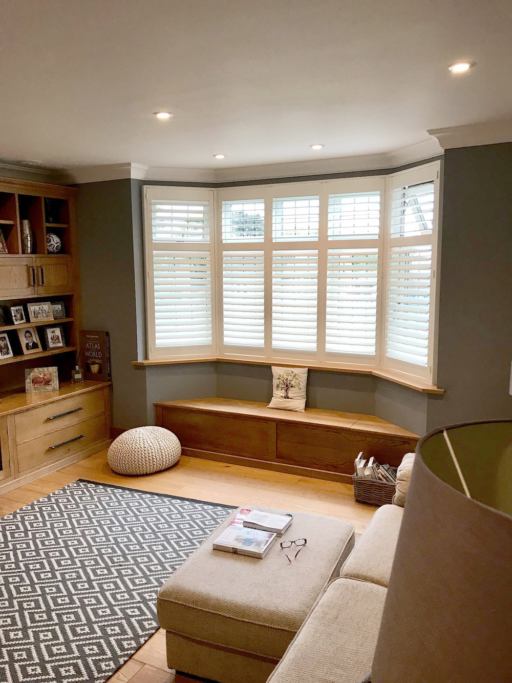 Shutters have become an attractive alternative to curtains and blinds