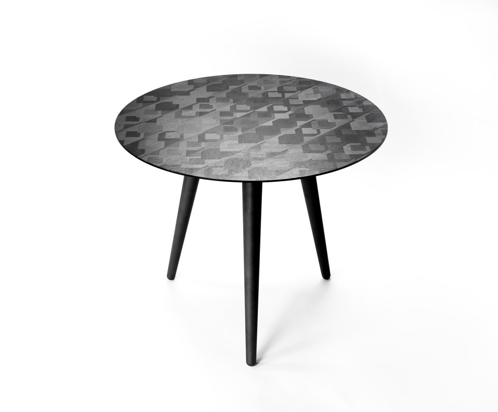 Graphite Side Table,