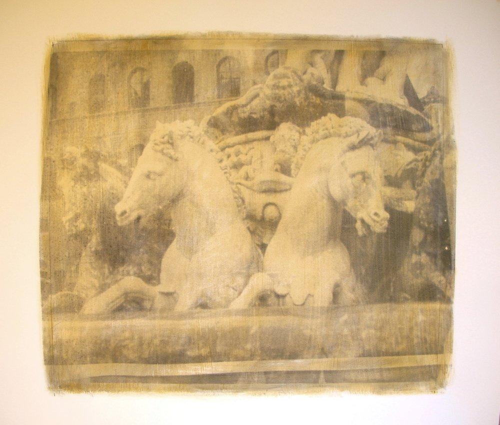 Vizcaya Marble Horses in Ochre