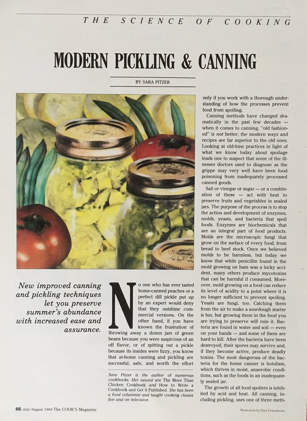 The Cook's Magazine, Canning