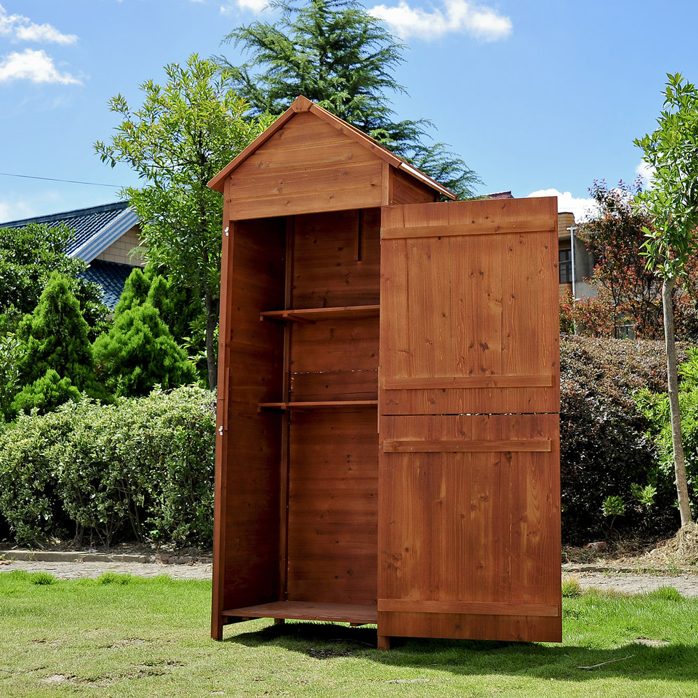 wooden mh outsunny sheds garden shed storage star