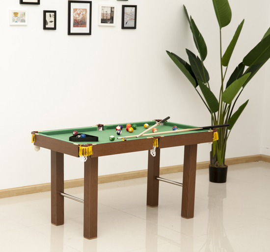 57c9c4949e49 HOMCOM 4ft Mini Pool Table-Brown