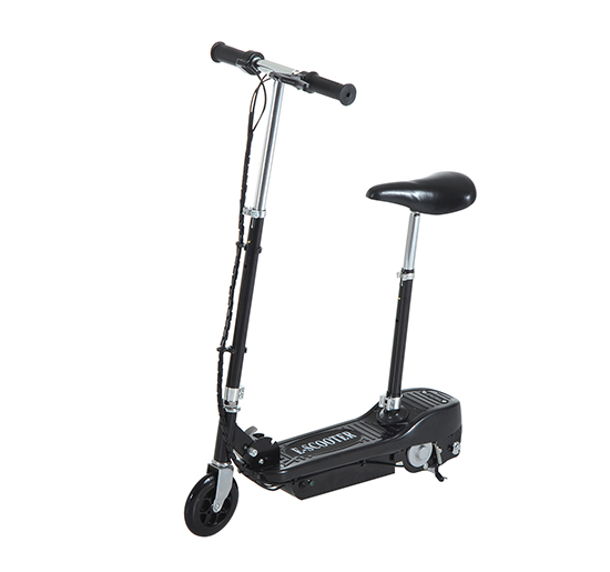 HOMCOM Motorized Electric Scooter, Rechargeable Battery-Black — MH Star