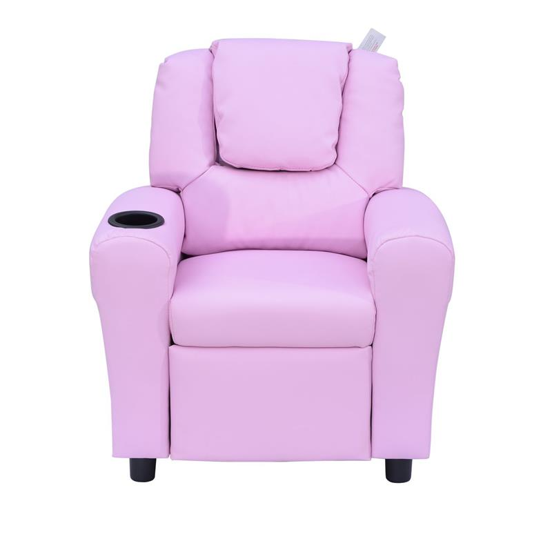 Homcom Children Recliner Armchair W Cup Holder Pink Mh Star