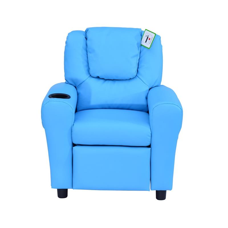 Homcom Children Recliner Armchair W Cup Holder Blue Mh Star