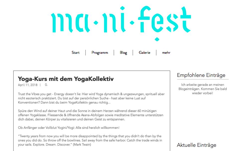manifest bern - Gratis yoga mit dem yogakollektivSamstag, 23. Juni 2018