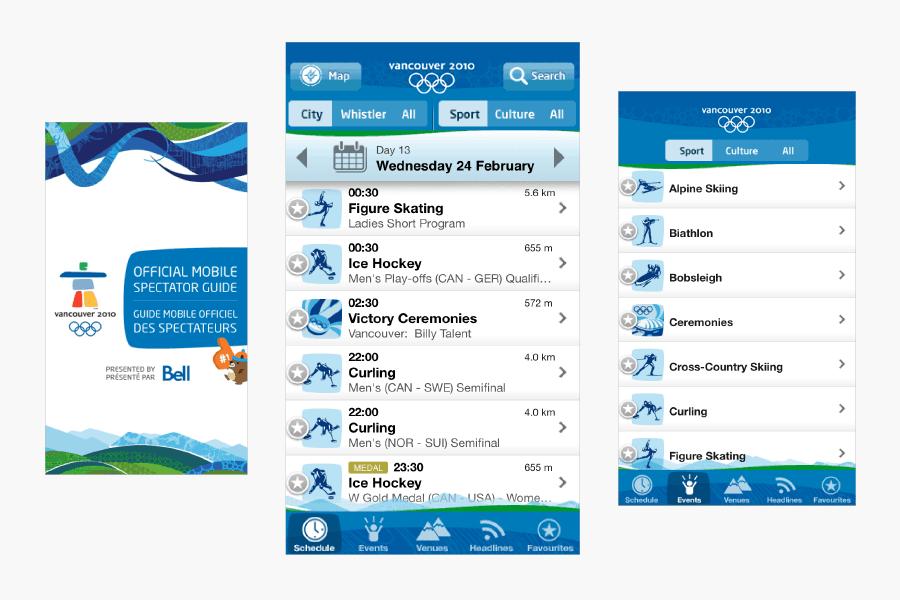 Vancouver 2010 Olympics App