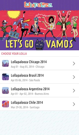 mobile app for events lollapalooza festival
