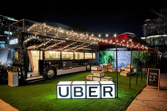 Uber took guests on a gourmet ride around Austin for their activation. Image from    BizBash   .