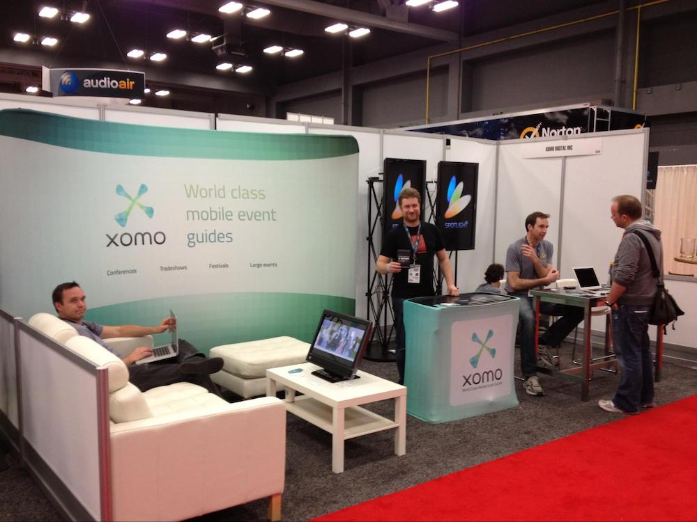 The Eventbase team, when they were known as Xomo Digital, onsite at SXSW.
