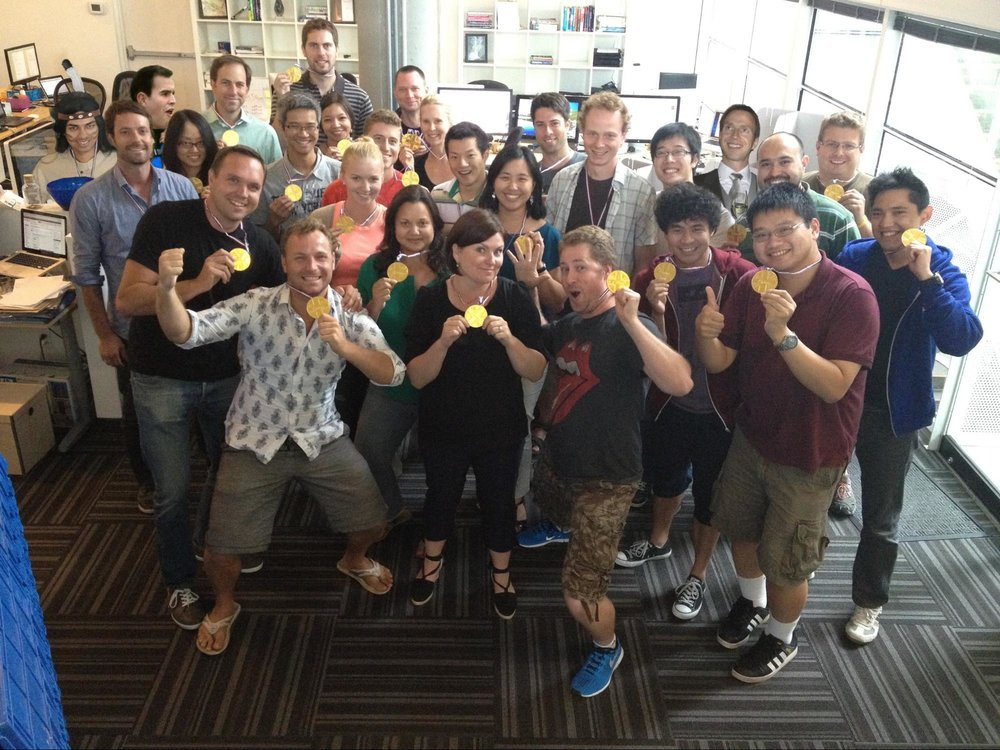 Celebrating the 2012 London Olympic Games from the Vancouver office.