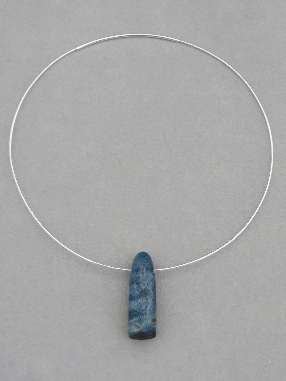 Blue drop pendant on a sterling silver choker ambrose brid blue drop pendant on a sterling silver choker aloadofball Image collections