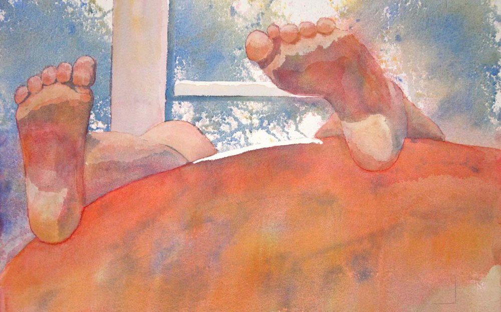 Lazy Feet - 20 x 24