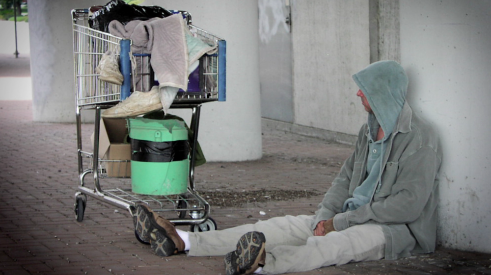 "- Alan defines chronically homeless as ""an unaccompanied male or female with a disabling condition who has lived on the streets for at least a year"