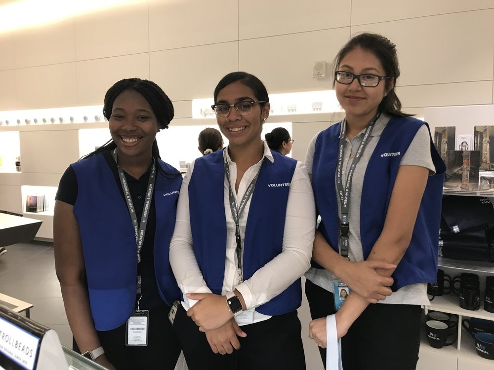 MECA interns shine at their jobs at the 9-11 Memorial and Museum, July 2017