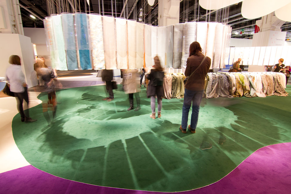 Heimtextil's Theme Park is organized into different experiential areas based on the trend forecasters' vision.