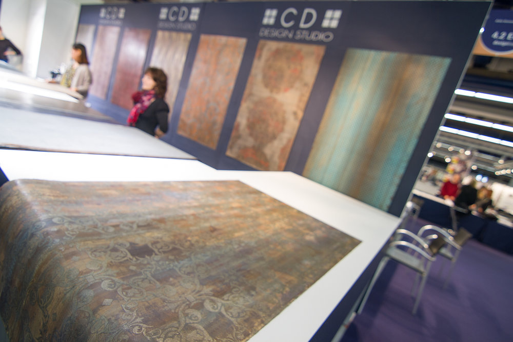 Designer Christian Dotzauer creates visuals for wall coverings, and shows his concepts every year at Heimtextil. His company, CD Design, also creates visuals for the flooring and laminates industry.