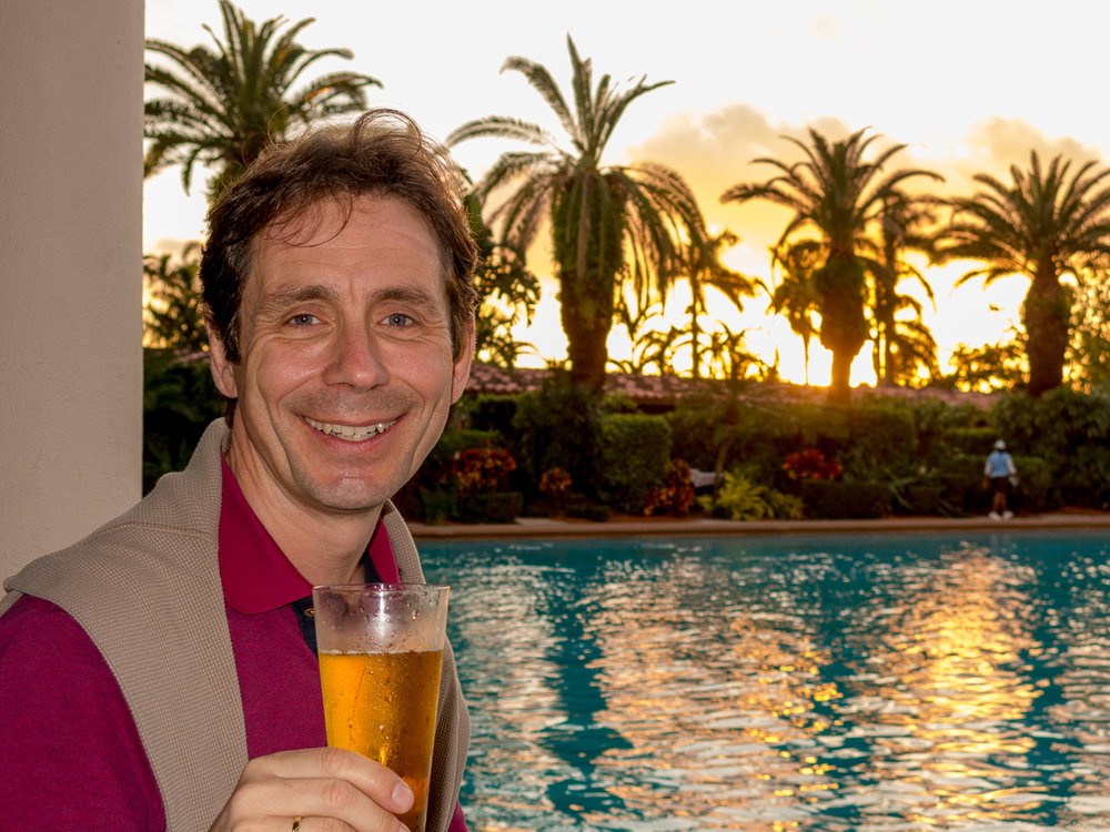 Dr. Kurt Fischer takes the Biltmore pool bar out for a spin.