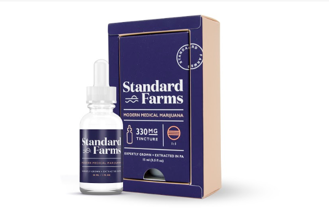 Standard Farms Dropper Tincture - Contains MCT oils, organic cherry flavoring and safflower oil.